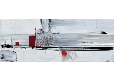 RED ABSTRACT - 150x60 cm AG070002