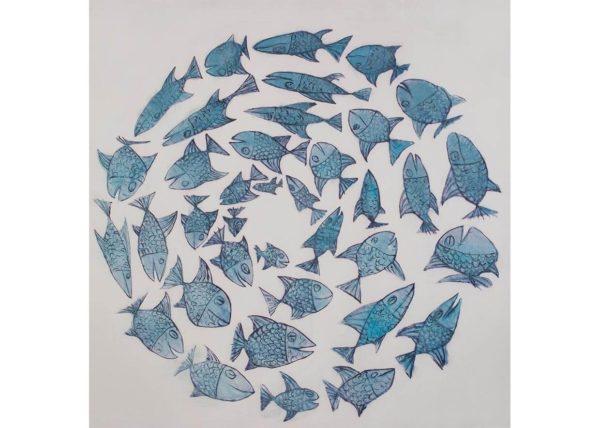 Cerchio della gioia 80 x 80 cm - dipinto su stampa AG090039
