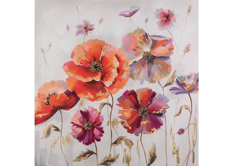Dark flowers - 100 x 100 cm AG090028