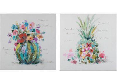 Tropical fruits - 40 x 40 cm (set 2 pezzi) AG090018-SET