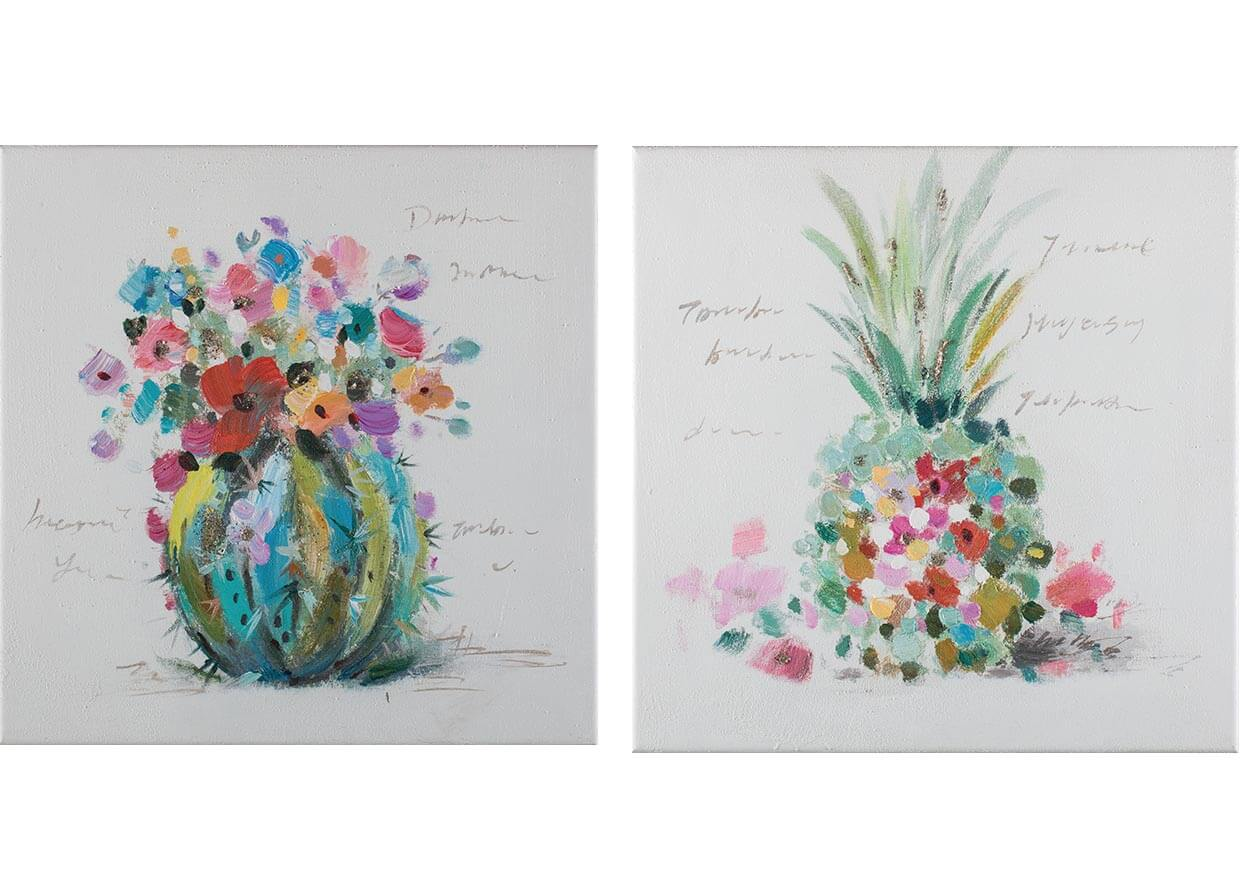 Tropical fruits - 40 x 40 cm (set 2 pezzi) AG090018-SET