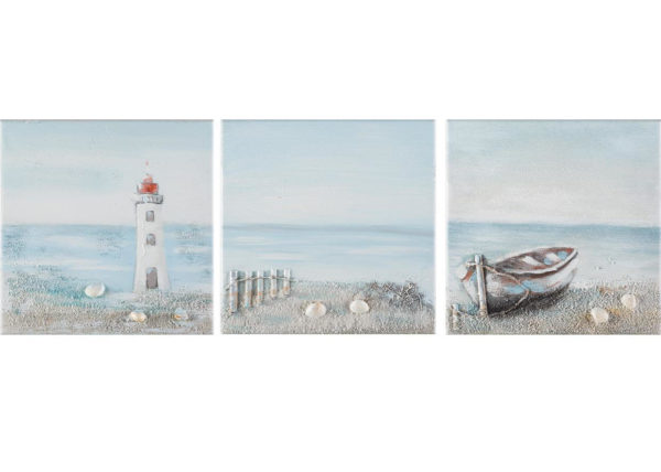SEA LANDSCAPE 30 x 30 cm - set 3 pezzi AG090016-SET