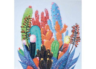 Arte in cactus - 100 x 100 cm AG080063