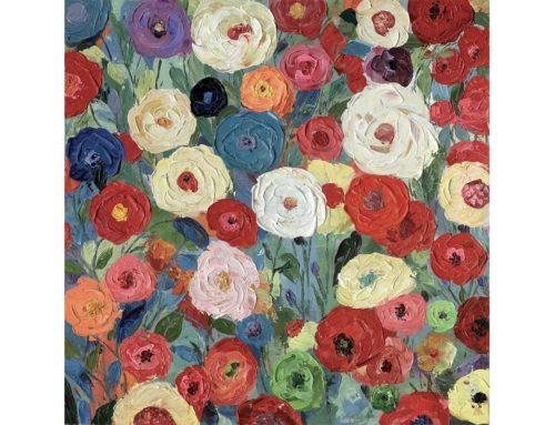 Petites roses – 90 x 90 cm