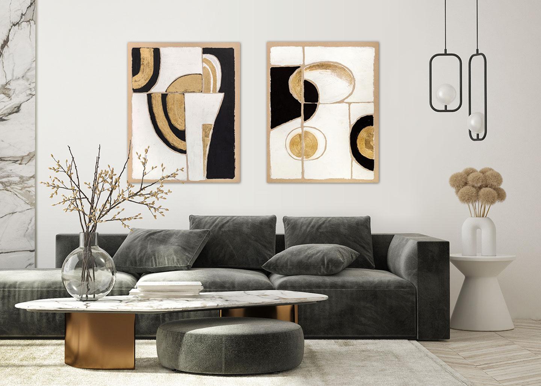 Quadri Black and gold 1 e 2